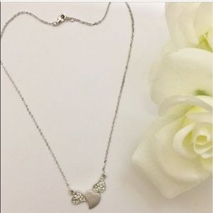 Jewelry - Sterling silver triple heart necklace